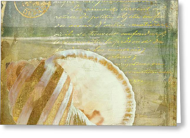 Golden Sea Three Greeting Card by Mindy Sommers
