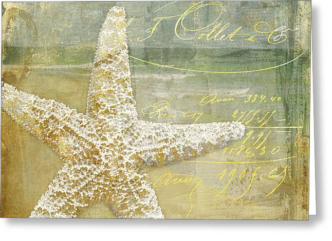 Golden Sea Two Greeting Card by Mindy Sommers