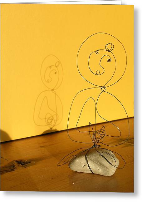 Live Wire Spirit Greeting Cards - Golden Shadow Greeting Card by Live Wire Spirit