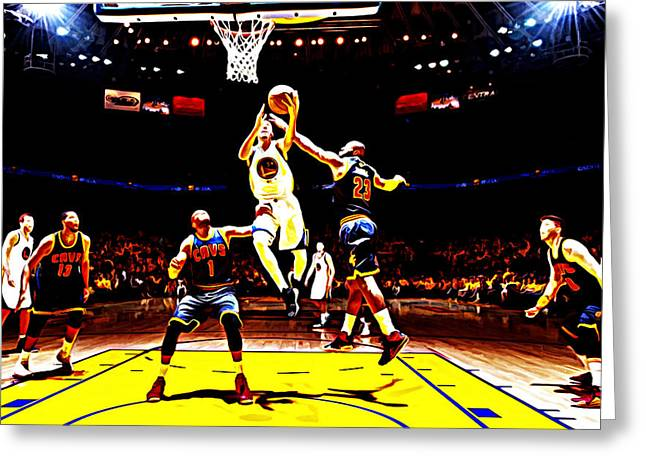 Stephen Barry Greeting Cards - Golden State Warriors Shaun Livingston Greeting Card by Brian Reaves