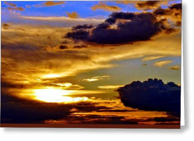 Golden Sunset Greeting Card by Patrick Mansen