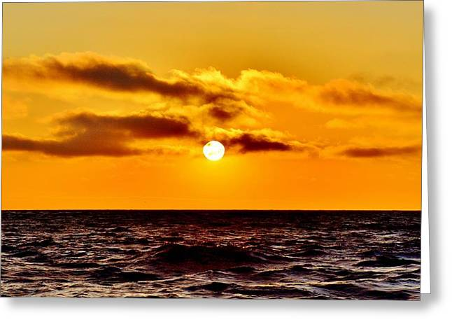Beach Photos Greeting Cards - Golden Sunset Greeting Card by Rick  Keene