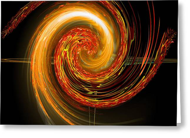 Golden Swirl Greeting Card by Michael Durst