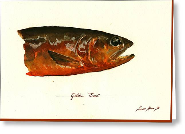 Golden Trout  Greeting Card by Juan  Bosco
