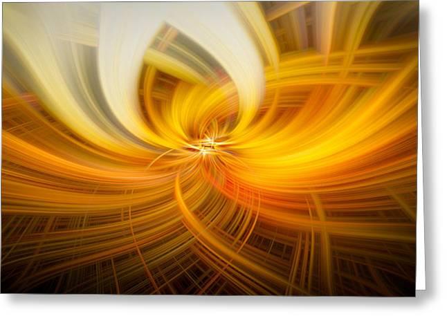Walden Pond Greeting Cards - Golden Twirls Greeting Card by Noah Katz