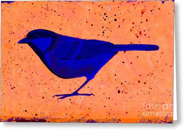 White Paintings Greeting Cards - Golden Whistler uv Greeting Card by Stefanie Forck