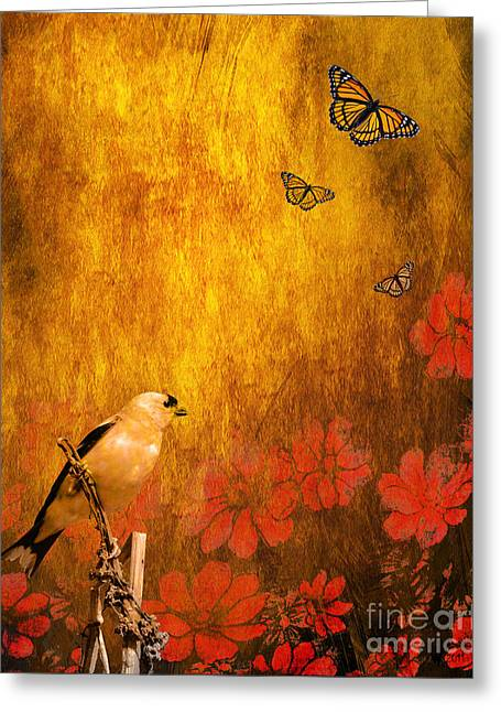 Golden Greeting Card by Wingsdomain Art and Photography