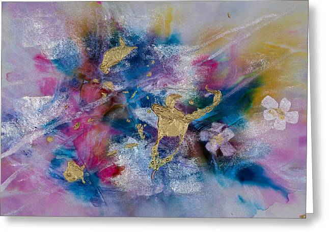 Oil Slick Greeting Cards - Goldenrod Greeting Card by Don  Wright