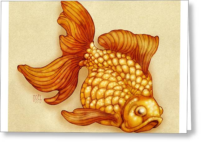 Goldfish Digital Greeting Cards - Goldfish II Greeting Card by Catherine Noel