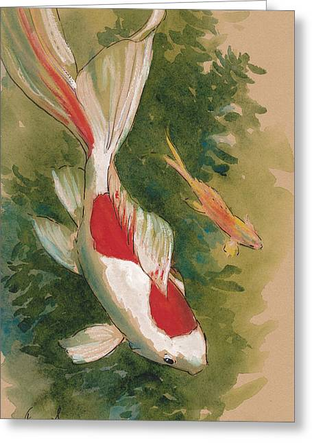 Goldfish Pair Greeting Card by Tracie Thompson
