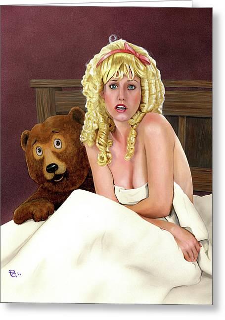 Goldilocks Greeting Cards - Goldi-shocks Greeting Card by Kevin Clark