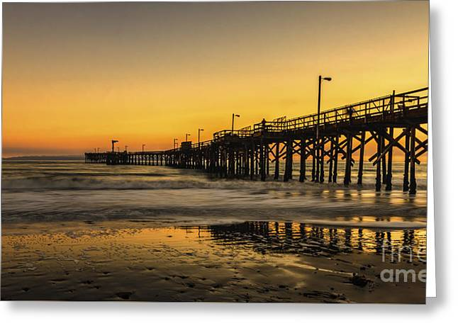 California Ocean Photography Greeting Cards - Goleta Sunset Greeting Card by Mitch Shindelbower