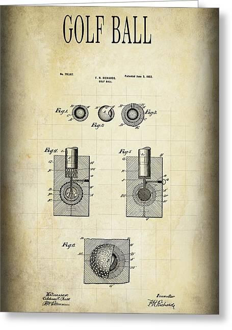 Golf Ball Patent 1902 Greeting Card by Daniel Hagerman