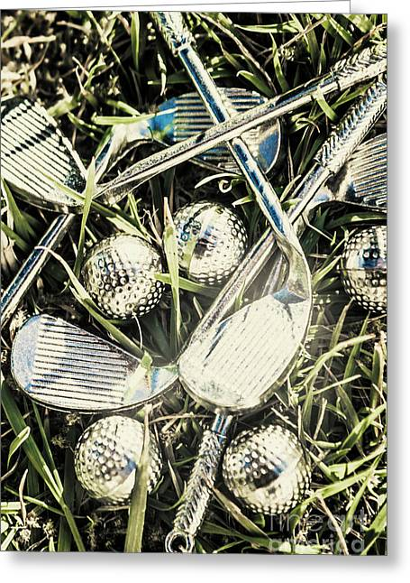 Golf Chrome Greeting Card by Jorgo Photography - Wall Art Gallery
