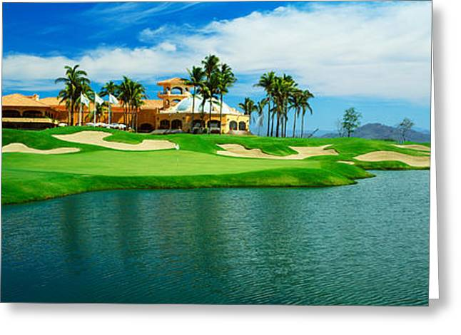 Stormy Weather Greeting Cards - Golf Course At Isla Navadad Resort Greeting Card by Panoramic Images