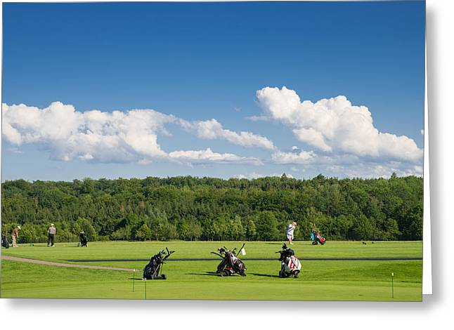 Deutschland Photographs Greeting Cards - Golf course Schoenbuch in Germany Greeting Card by Matthias Hauser