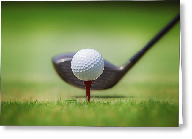 Golf Photos Greeting Cards - Golf in grass Greeting Card by Anek Suwannaphoom