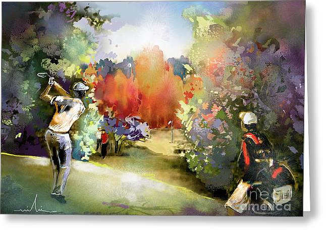 Gut Greeting Cards - Golf in Gut Laerchehof Germany 02 Greeting Card by Miki De Goodaboom