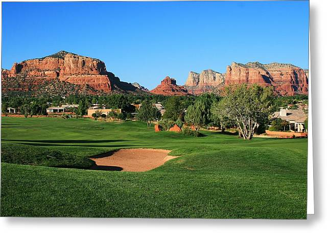Golf in Paradise Greeting Card by Gary Kaylor
