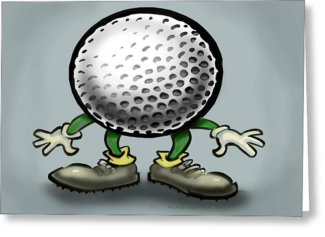 Funny Greeting Cards - Golf Greeting Card by Kevin Middleton