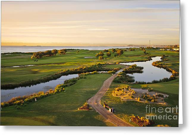 Beautiful Golf Course Greeting Cards - Golfing at the Gong II Greeting Card by Ray Warren