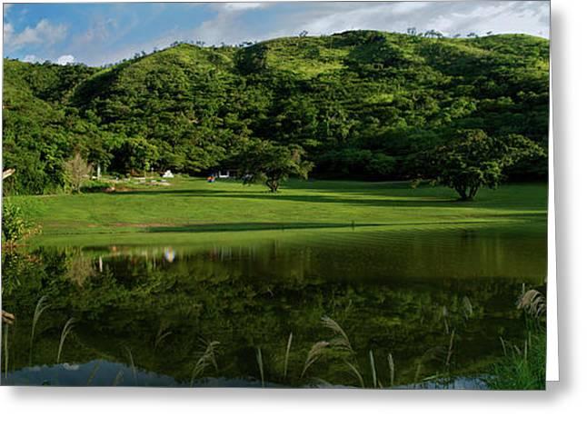 Rincon Greeting Cards - Golfito desde la laguna Greeting Card by Bibi Romer