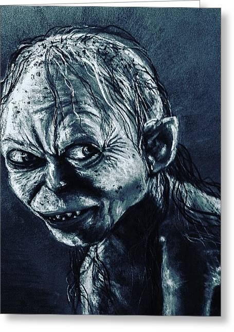 Gollum Greeting Card by Alban Dizdari