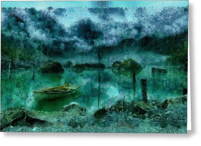 Gollum's Grotto Greeting Card by Mario Carini
