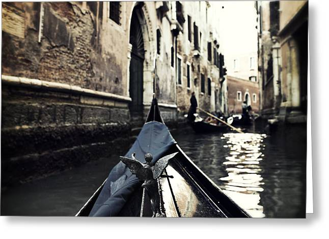 Narrow Greeting Cards - gondola - Venice Greeting Card by Joana Kruse