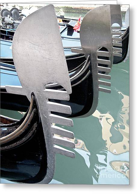 Gondola In Line Greeting Card by Heiko Koehrer-Wagner
