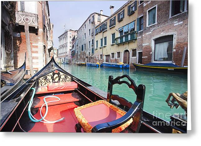 Outfit Greeting Cards - Gondola in Venice Greeting Card by Andre Goncalves