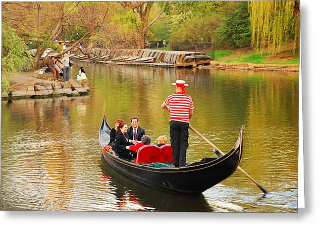 Ply Greeting Cards - Gondola of Central Park Greeting Card by James Kirkikis