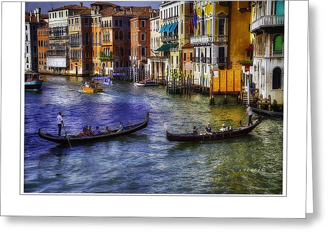 Gondola Ride Greeting Card by Michael Rankin