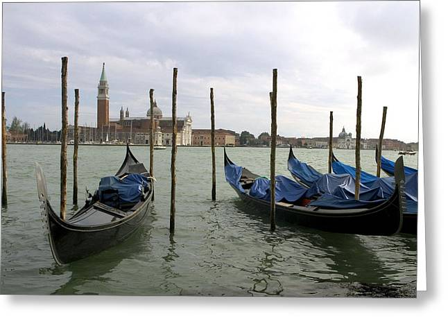 Problem Greeting Cards - Gondolas Greeting Card by Mike Lester