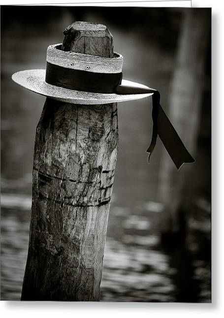 Disused Greeting Cards - Gondolier Hat Greeting Card by Dave Bowman