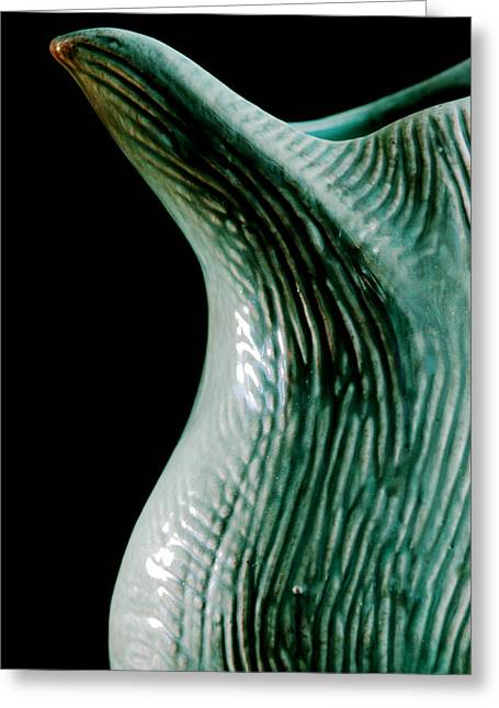 Pottery Pitcher Greeting Cards - Gondor Pitcher Spout Greeting Card by Julie Mangano