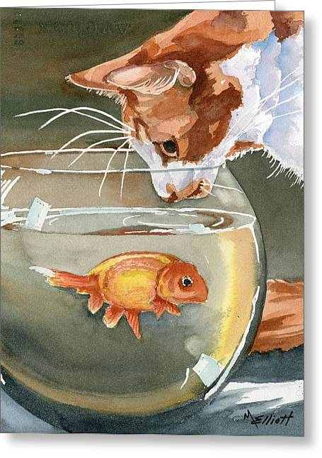 Recently Sold -  - Nature Greeting Cards - Gone Fishin Greeting Card by Marsha Elliott