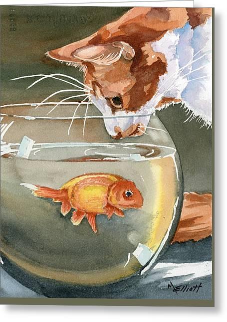 Gone Fishin Greeting Card by Marsha Elliott