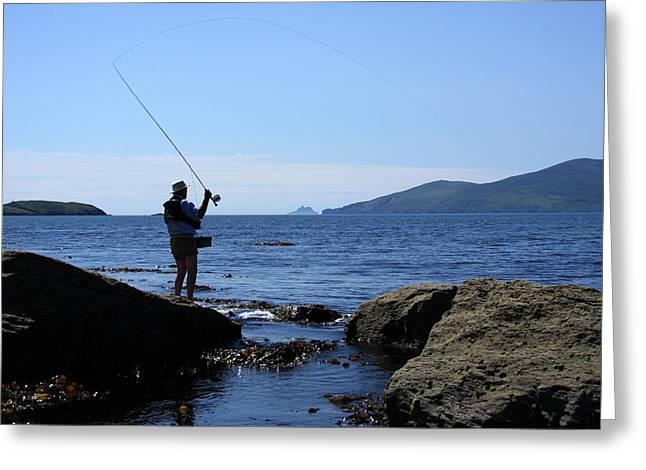 Fishing Prints Greeting Cards - Gone Fishing Greeting Card by Aidan Moran