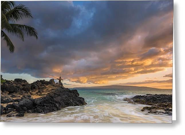 Gone Fishing Greeting Card by Hawaii  Fine Art Photography