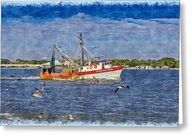 Water Vessels Greeting Cards - Gone Fishing Greeting Card by John Bailey