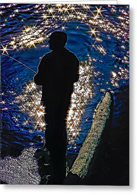 Gone Fishing Greeting Card by Steve Harrington