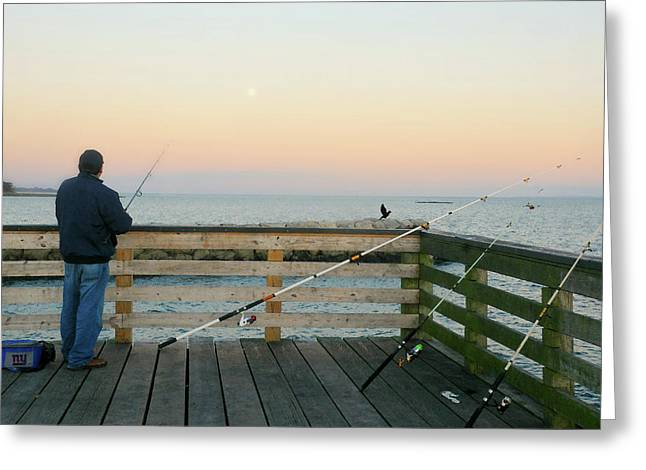 Gone Fish'n Greeting Card by Diana Angstadt