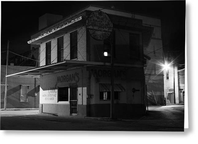 Store Fronts Greeting Cards - Gone for the Night Greeting Card by Jeff Mize