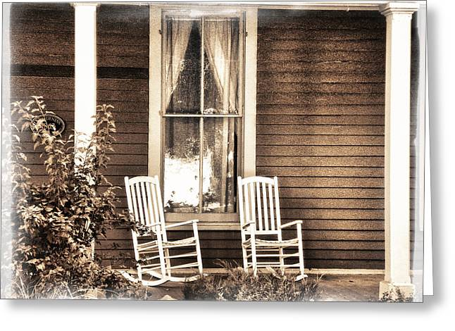Empty Chairs Digital Greeting Cards - Gone Greeting Card by Julie Palencia