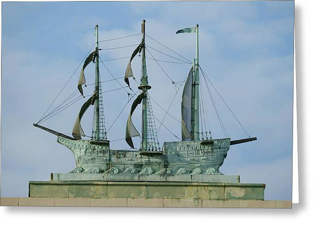 Convention Greeting Cards - Gone Sailing Greeting Card by Fraida Gutovich