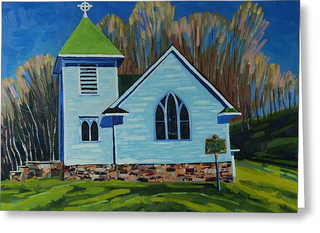Canoe Greeting Cards - Gone to Church Greeting Card by Phil Chadwick