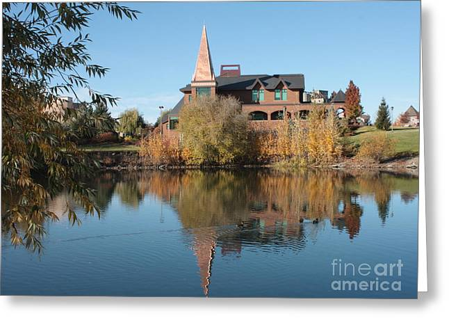 """spokane Falls"" Greeting Cards - Gonzaga Art Building Greeting Card by Carol Groenen"