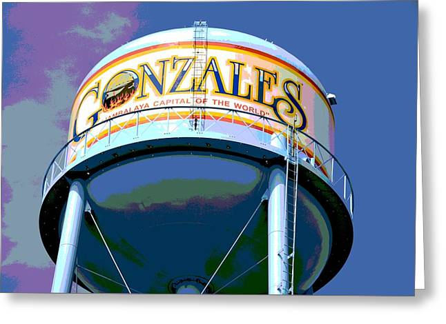 Jambalaya Greeting Cards - Gonzales Louisiana Water Tower Greeting Card by D S Images