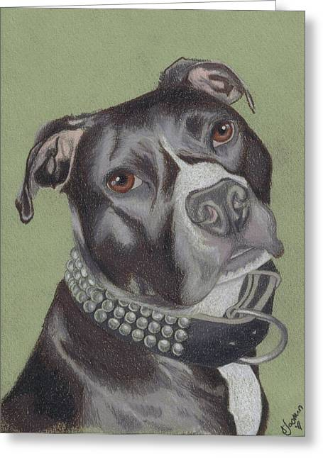Bully Greeting Cards - Gonzo Greeting Card by Stacey Jasmin